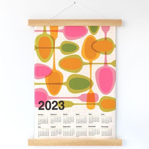 2126_Kitchen retro Spoons tea towel Calendar