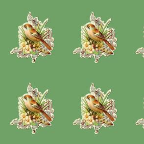 vintage bird green