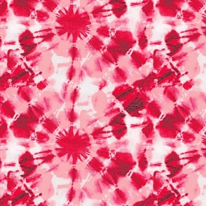 Ink Splat Red and Pink Tie Dye (s)
