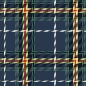 Navy and Buttercup Plaid Large