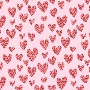 small valentines hearts fabric - cute valentines designs