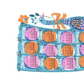 Peacal - 2022 Tea Towel Calendar (blue)