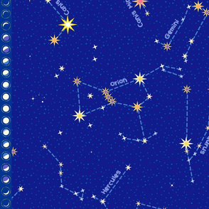 """For Lyra and Cassie - Constellation map (42"""")"""