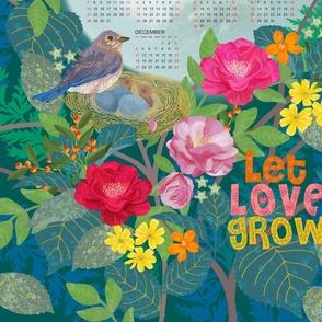 2022 CALENDAR LET LOVE GROW