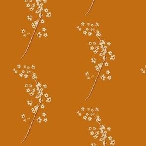 Blossom sprigs on Paprika