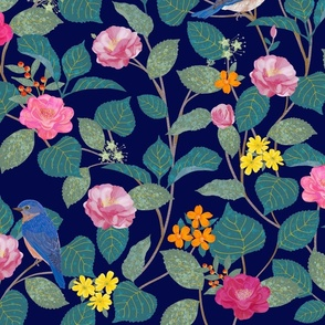 Camellia Garden Navy