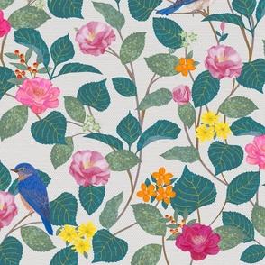Camellia Garden Woven Texture Beige