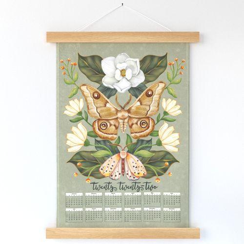 Moths and Magnolia_ 2022 Wall Calendar