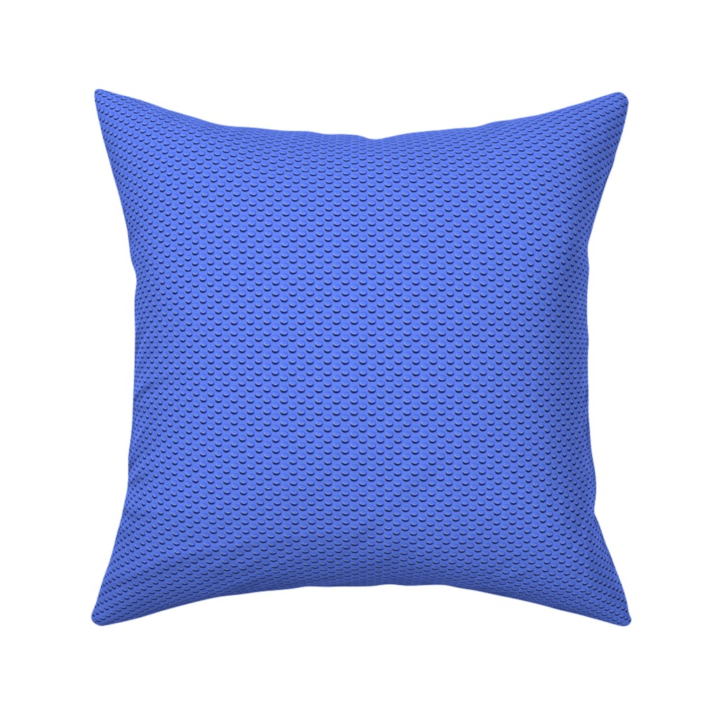 Catalan Throw Pillow featuring Building bricks blue by spacefem