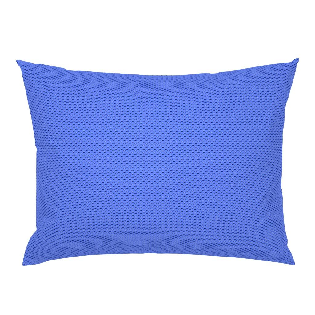 Campine Pillow Sham featuring Building bricks blue by spacefem