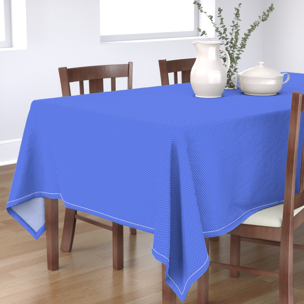 Bantam Rectangular Tablecloth featuring Building bricks blue by spacefem