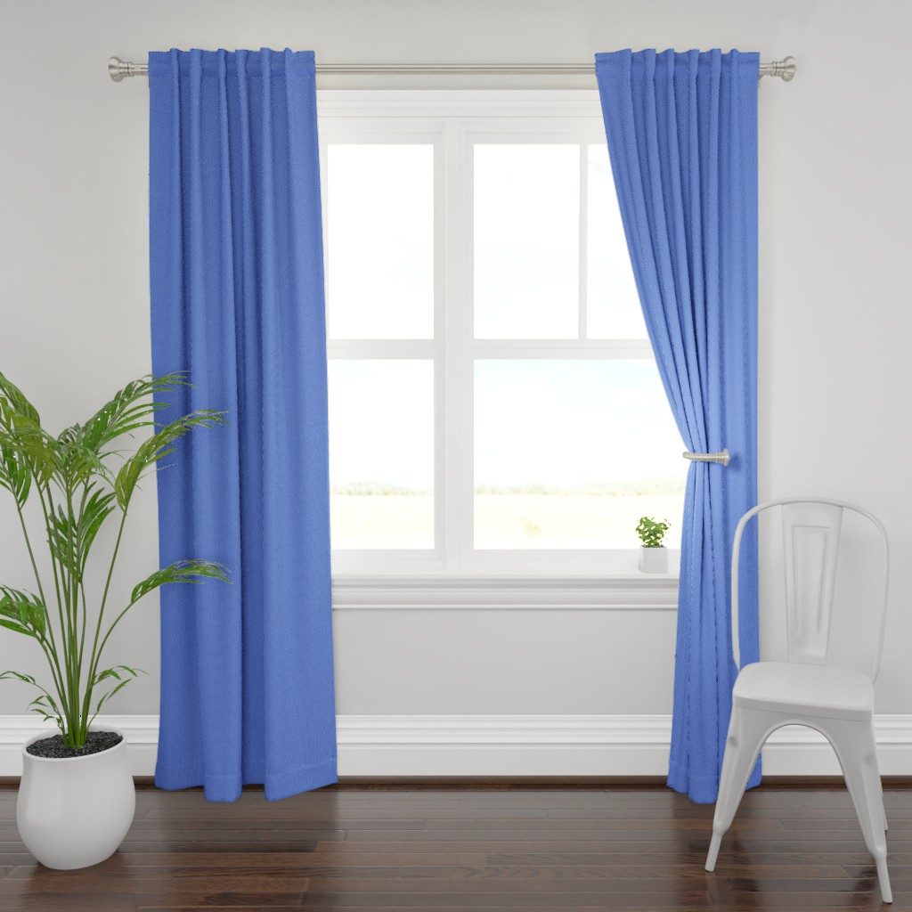 Plymouth Curtain Panel featuring Building bricks blue by spacefem