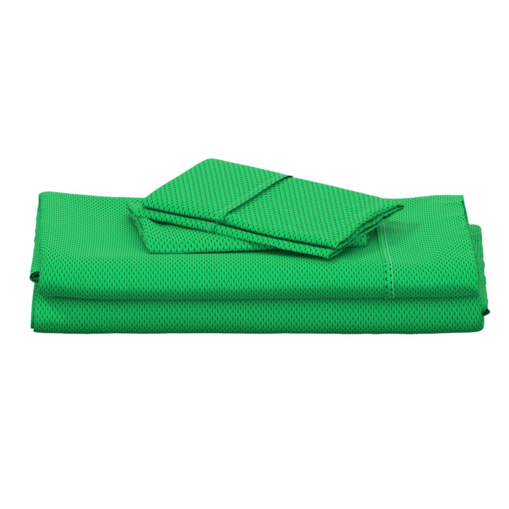 Langshan Full Bed Set featuring Building bricks green by spacefem