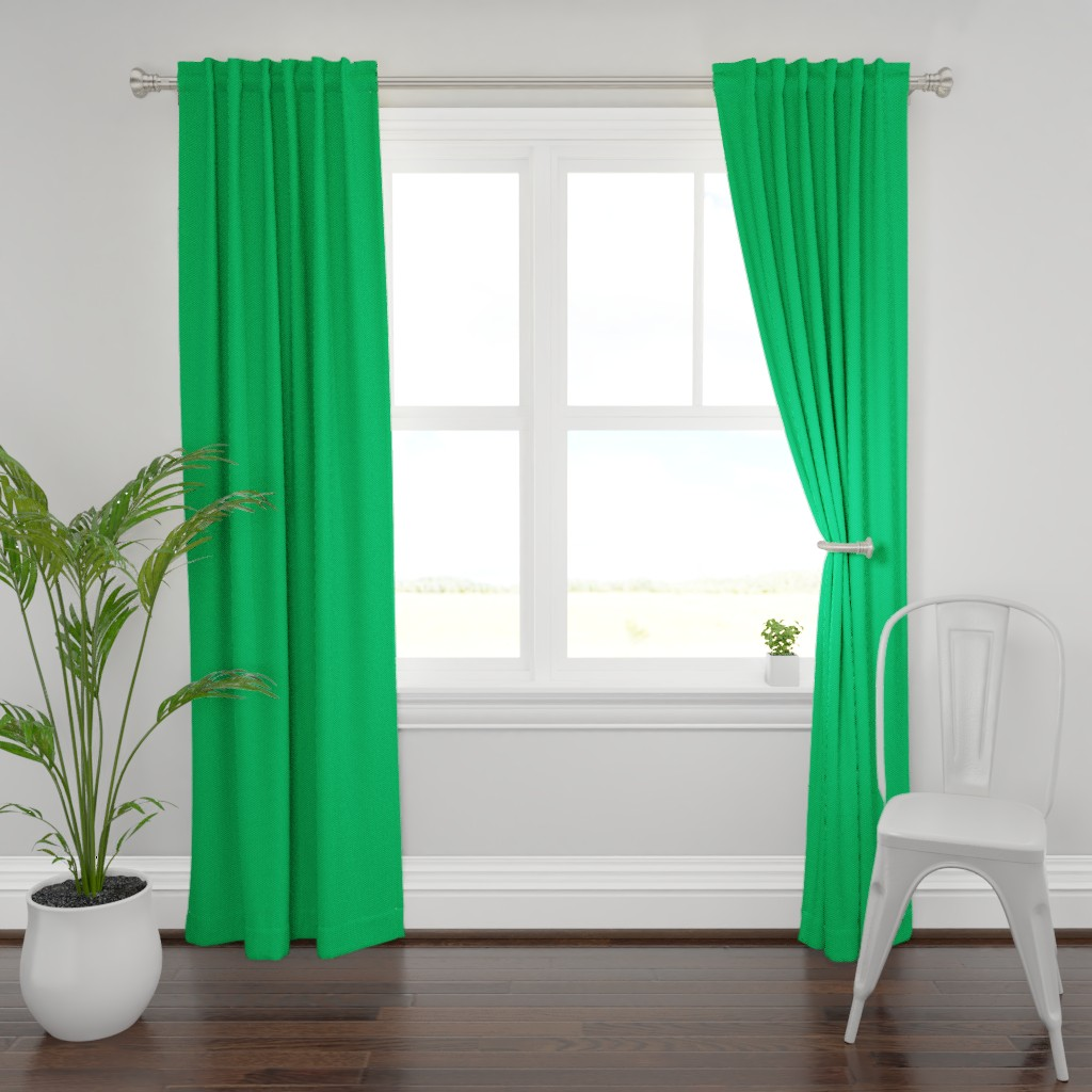Plymouth Curtain Panel featuring Building bricks green by spacefem