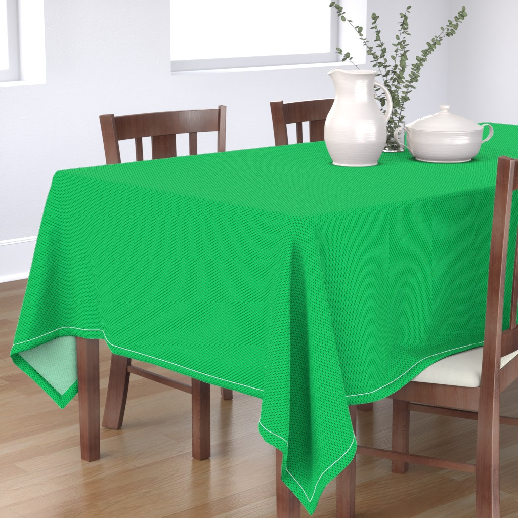 Bantam Rectangular Tablecloth featuring Building bricks green by spacefem