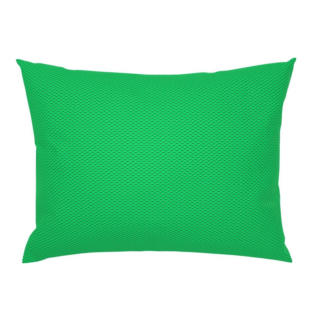Campine Pillow Sham featuring Building bricks green by spacefem