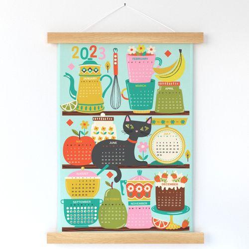 Mid century pantry calendar