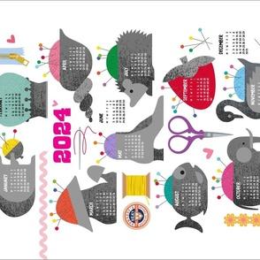 Antique pincushions 2022 calendar