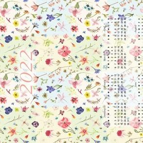 2022 patchwork watercolor floral