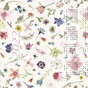 2022 watercolor floral softer