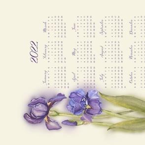 Grandma's Irises Calendar 2022