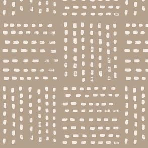 Four Parts Stripes beige on brown