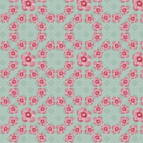 protea chain little floral mint PAPERBRUSH