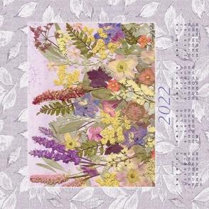 2022 Lavender Garden  CalendarTea Towel