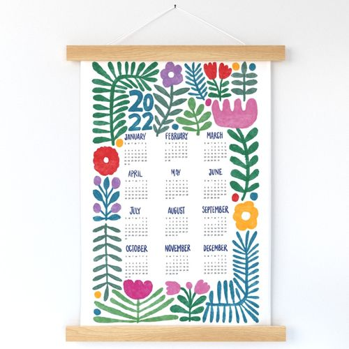 2022 calendar - happy colours