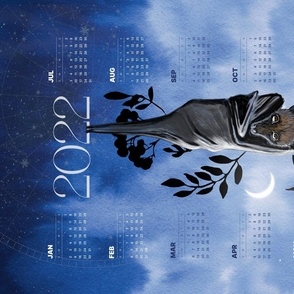2022 Calendar Guardian of  the Night and New Beginning