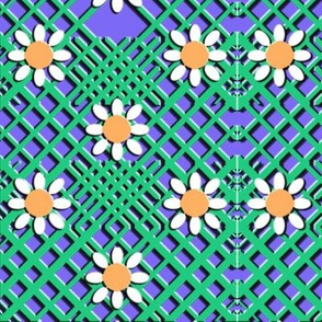 Geo Flowers Blue
