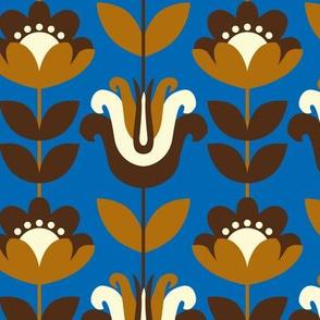 retro flowers (blue)
