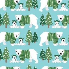 Polar Bear Mama and Me - Medium Scale