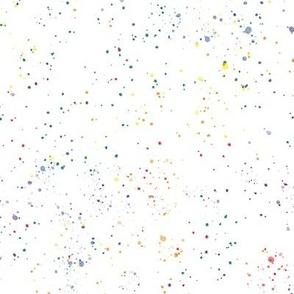 watercolor rainbow splatters - pride abstract paint splash - 3
