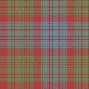 "Jacobite tartan, 6"" custom #4, red/olive/light blue"