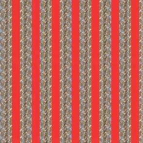 Tinsel Stripe: Hollyberry