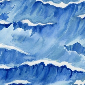WATERCOLOR WAVES large scale