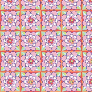 Summer Colored Flower 1 - MEDIUM