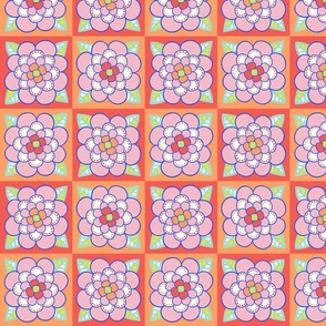 Summer Colored Flower 2 - MEDIUM