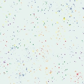 watercolor rainbow splatters on light green  - pride abstract paint splash - 5