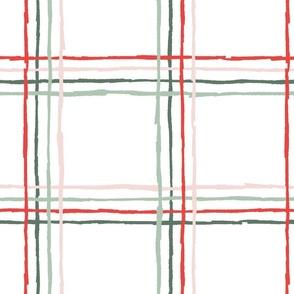 Sketchy Windowpane Plaid - Multicolor, Medium Scale