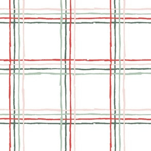 Sketchy Windowpane Plaid - Multicolor, Large Scale