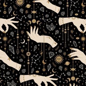 magical talismans - black background