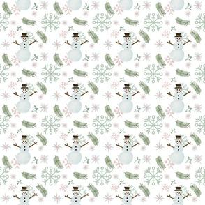 Snowman_and_fir