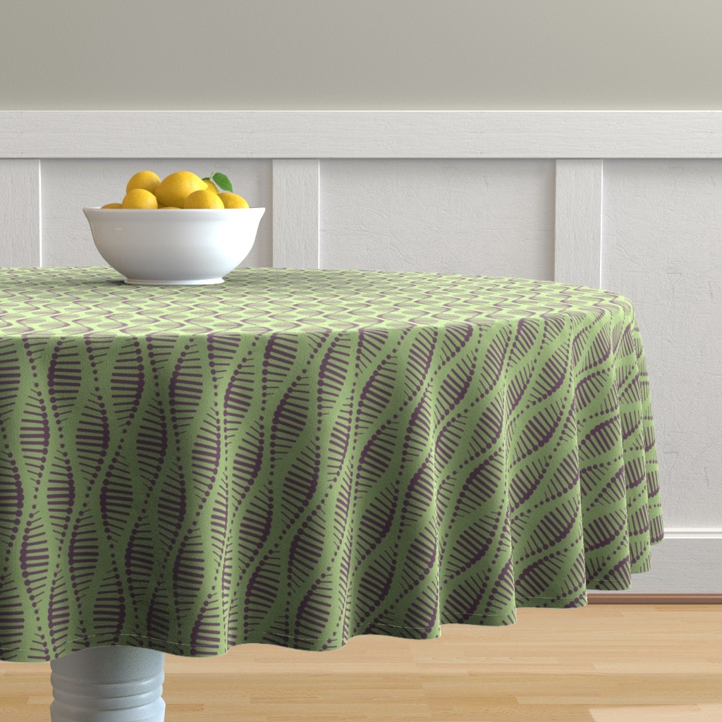 Malay Round Tablecloth featuring Gene Splicing by chris_jorge