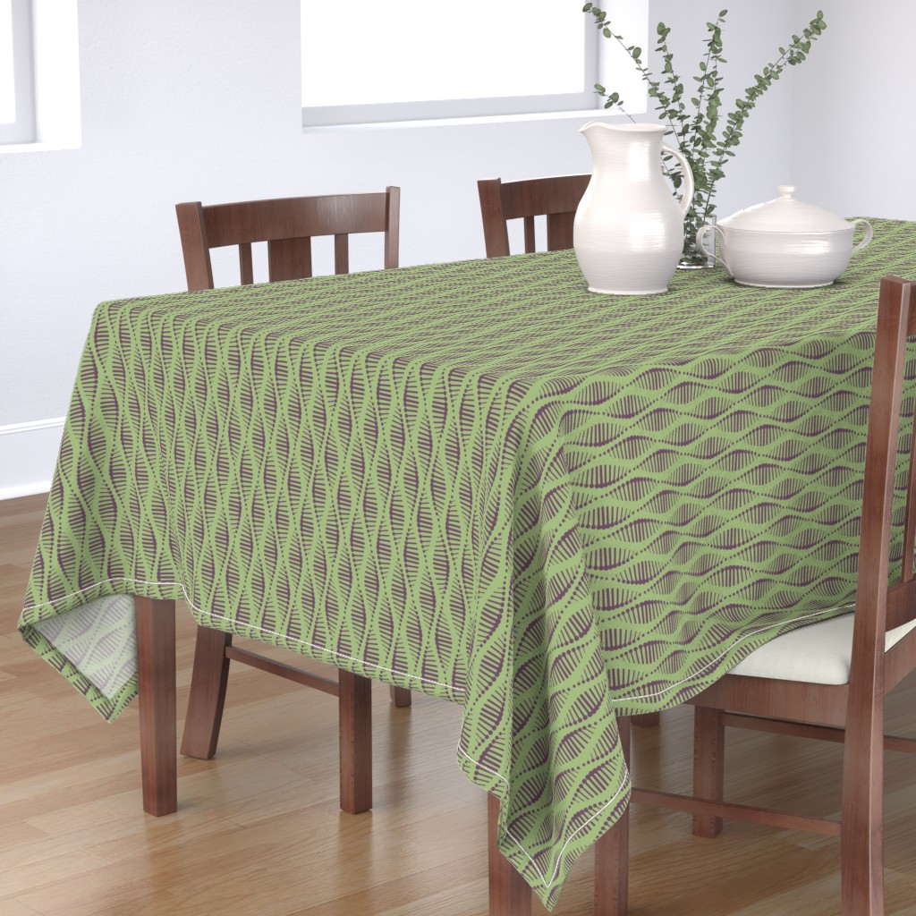 Bantam Rectangular Tablecloth featuring Gene Splicing by chris_jorge