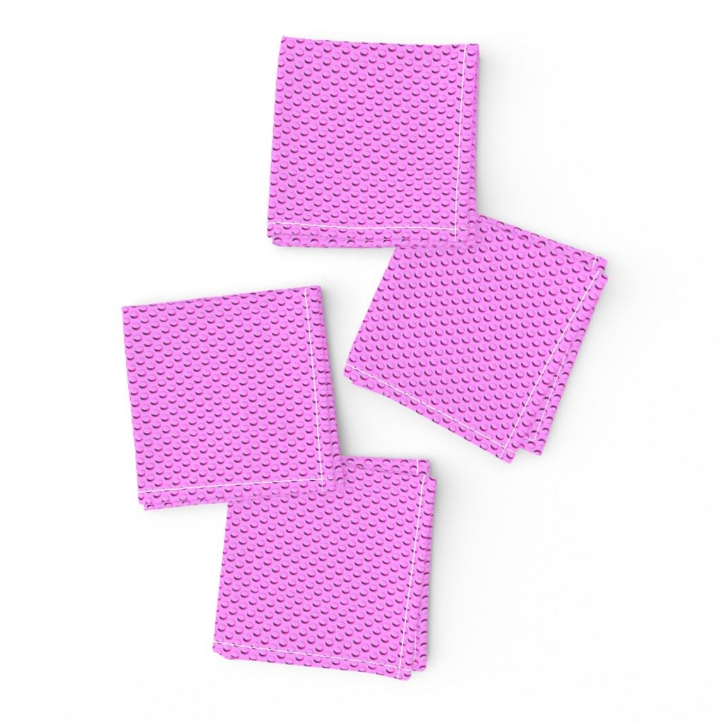 Frizzle Cocktail Napkins featuring Building bricks pink by spacefem