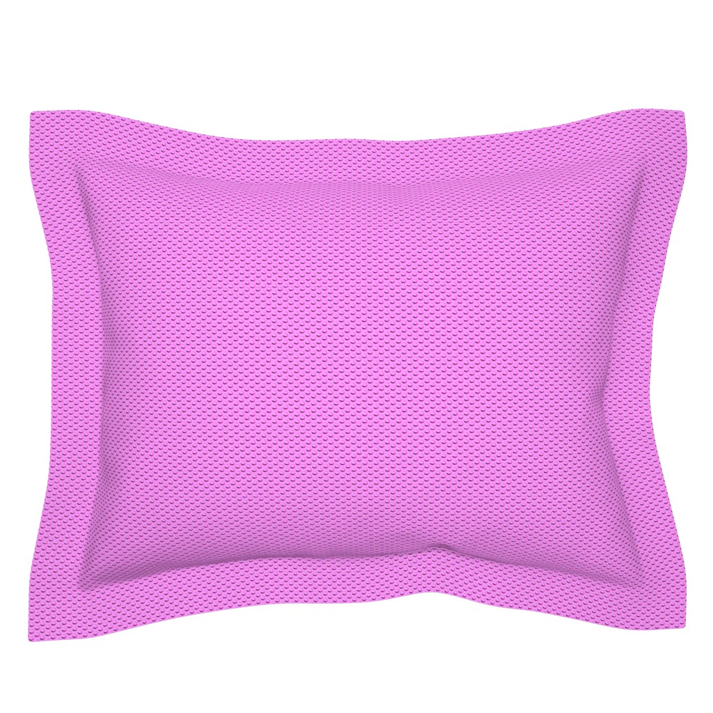 Sebright Pillow Sham featuring Building bricks pink by spacefem