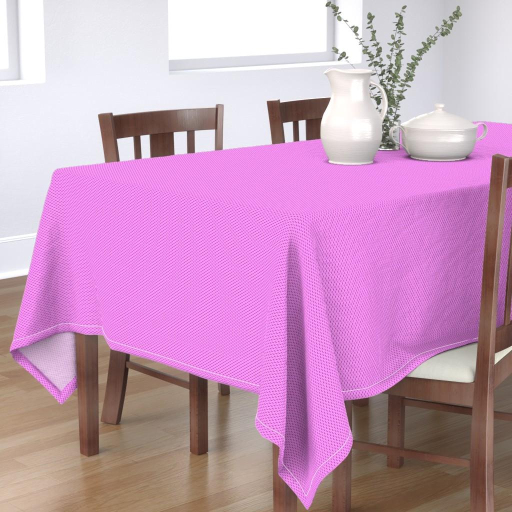 Bantam Rectangular Tablecloth featuring Building bricks pink by spacefem