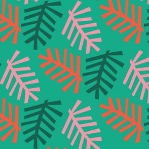 Christmas Tree light green bg